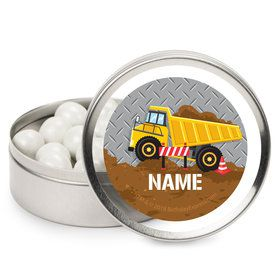 Construction Party Personalized Mint Tins (12 Pack)