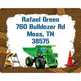 Construction Personalized Address Labels (Sheet of 15)