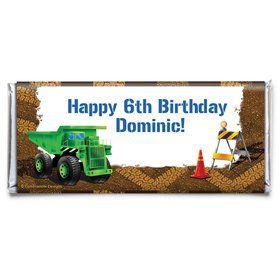 Construction Personalized Candy Bar Wrapper (Each)