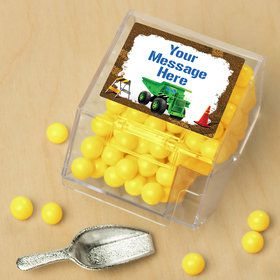 Construction Personalized Candy Bin with Candy Scoop (10 Count)