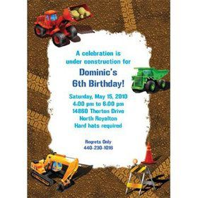 Construction Personalized Invitation (each)
