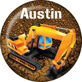 Construction Personalized Mini Button (Each)