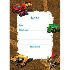 Construction Personalized Thank You Note (each)