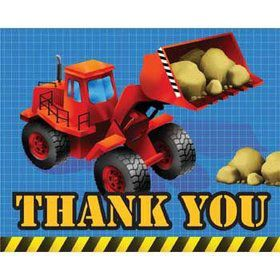 Construction Thank You Notes (8-pack)