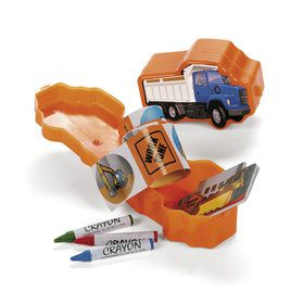 Construction Truck Stationery Pre-Filled Favor Containers (12)