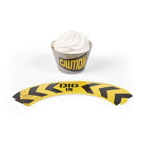 Construction Zone Cupcake Collars (24)