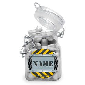 Construction Zone Personalized Glass Apothecary Jars (12 Count)