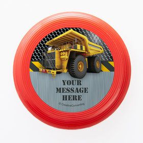 Construction Zone Personalized Mini Discs (Set of 12)