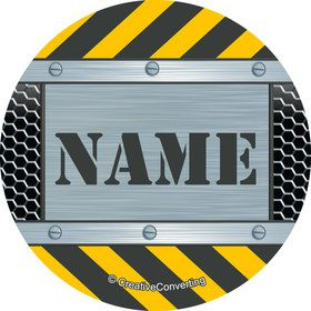 Construction Zone Personalized Mini Stickers (Sheet of 24)