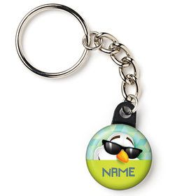 "Cool Snowman Personalized 1"" Mini Key Chain (Each)"