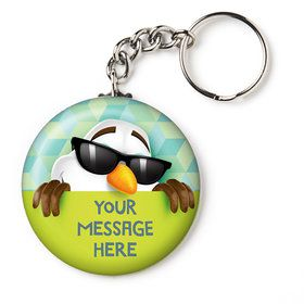 "Cool Snowman Personalized 2.25"" Key Chain (Each)"