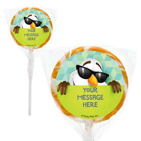 "Cool Snowman Personalized 2"" Lollipops (20 Pack)"