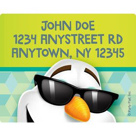Cool Snowman Personalized Address Labels (Sheet of 15)