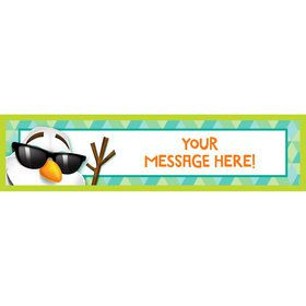 Cool Snowman Personalized Banner (Each)