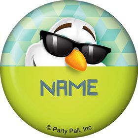 Cool Snowman Personalized Mini Button (Each)