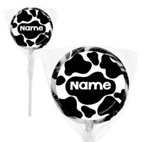 "Cow Personalized 2"" Lollipops (20 Pack)"