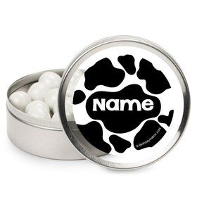 Cow Personalized Candy Tins (12 Pack)