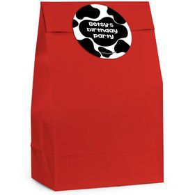 Cow Personalized Favor Bag (Set Of 12)