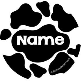 Cow Personalized Mini Stickers (Sheet of 20)
