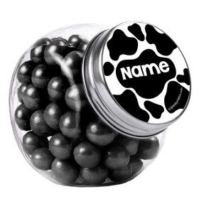 Cow Personalized Plain Glass Jars (10 Count)