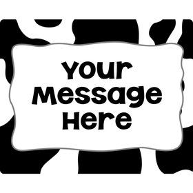 Cow Personalized Rectangular Stickers (Sheet of 15)