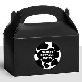Cow Personalized Treat Favor Boxes (12 Count)