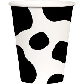 Cow Print 9oz Paper Cups (8)