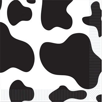 Cow Print Beverage Napkins (16 Pack) BB58170