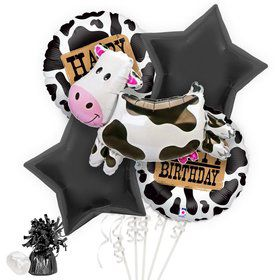 Cow Print Birthday Balloon Bouquet Kit