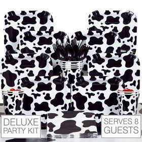Cow Print Deluxe Party Tableware Kit Serves 8
