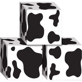 Cow Print Favor Boxes (3 Pack)