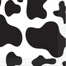 Cow Print Luncheon Napkins (16 Pack)
