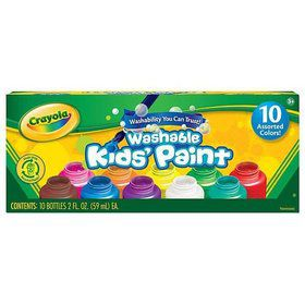 Crayola 10 Ct. Washable Kids' Paint, 2-O