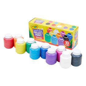 Crayola 10ct. Washable Project Paint, Classic Colors