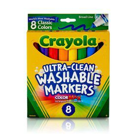 Crayola 8ct. Ultra-Clean Washable Markers, Classic Colors