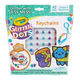 Crayola Glitter Dots DIY Key Chains