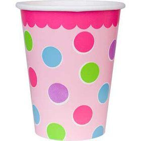 Cupcake 1st Birthday Girl Cups (18-pack)