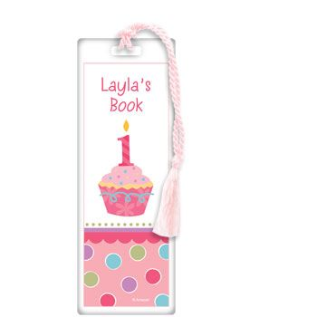 Cupcake 1St Birthday Girl Personalized Bookmark (Each) BB019220
