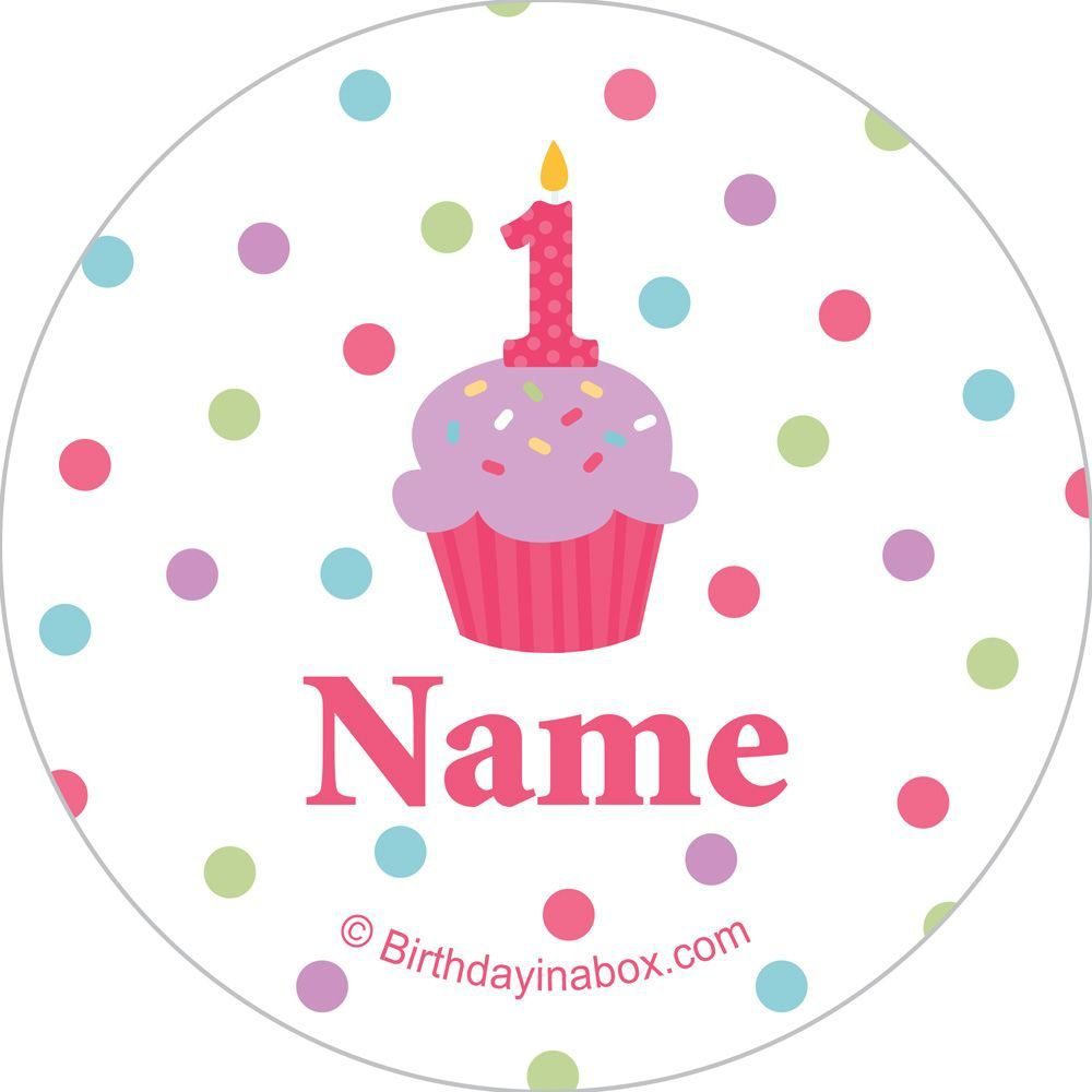 Happy Birthday FUN Personalised Stickers Cupcake Topper Thank You Party Bags 15