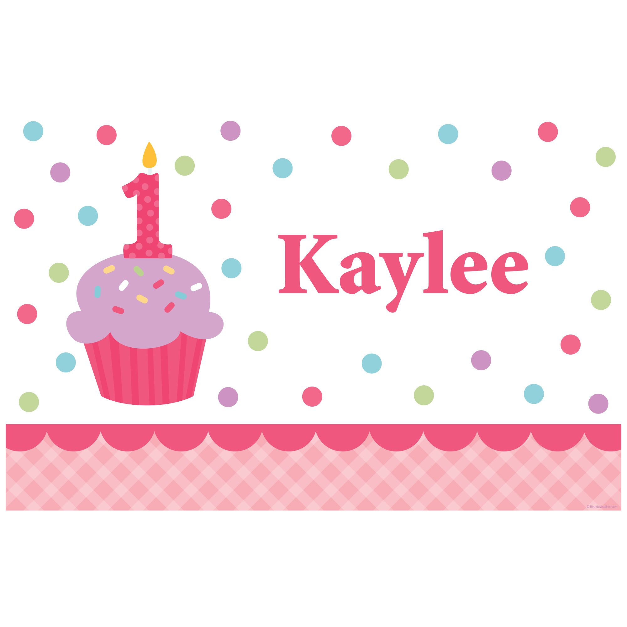 Cupcake 1St Birthday Girl Personalized Placemat (Each) BB1001PM