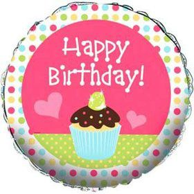 Cupcake Birthday Balloon (each)