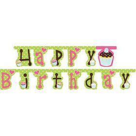 Cupcake Birthday Banner (each)