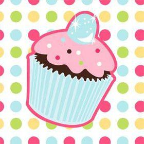 Cupcake Birthday Beverage Napkins (16-pack)