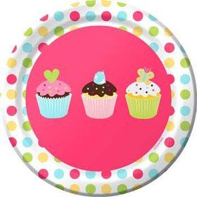Cupcake Birthday Cake Plates (8-pack)