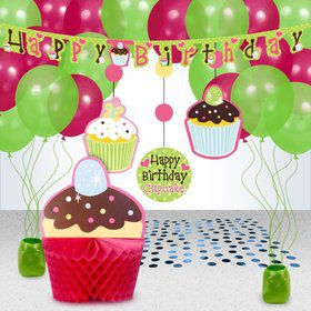 Cupcake Birthday Decoration Kit