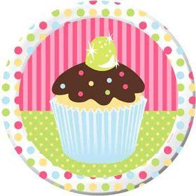 Cupcake Birthday Dinner Plates (8-pack)