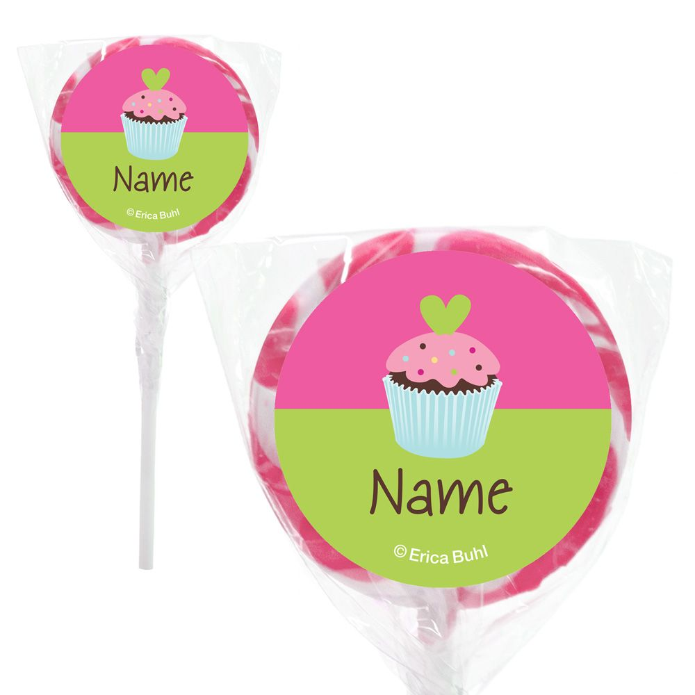 "Cupcake Birthday Personalized 2"" Lollipops (20 Pack) BB018857PPS"