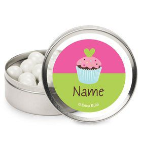 Cupcake Birthday Personalized Candy Tins (12 Pack)