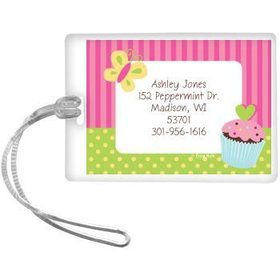 Cupcake Birthday Personalized Luggage Tag (each)
