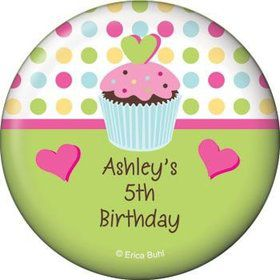 Cupcake Birthday Personalized Magnet (each)